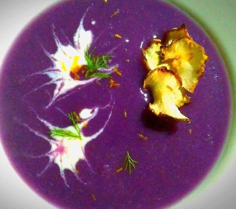 vellutata di cavolo viola