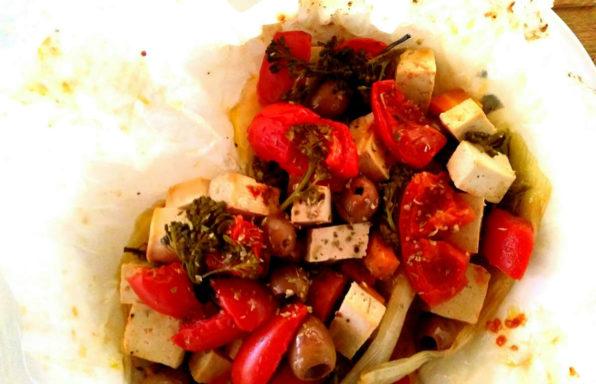 tofu al cartoccio
